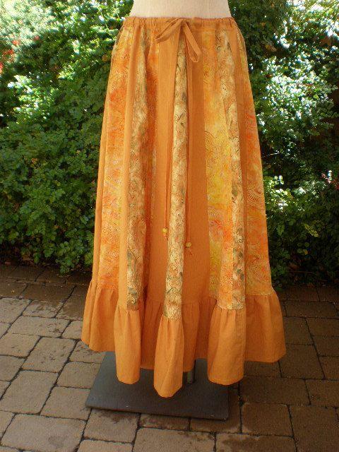 Handmade Hippie Patchwork Skirt - Sun Dress Cotton Batik Fabrics 200 Inch Spin OOAK Festival Clothes Hippie Clothes Hippie Skirt. $79.00, via Etsy.