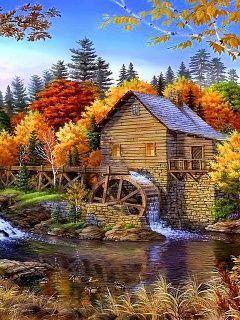 Download Watermill Mobile Wallpaper | Mobile Toones