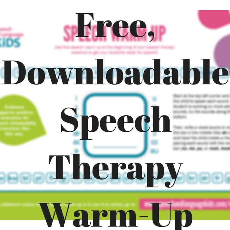 Speech Therapy Warm-Up | Speech and Language Kids