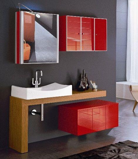 #red #color #arredoquattro #bagno