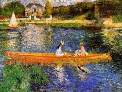 The Seine at Asnieres (The Skiff) - Pierre-Auguste Renoir, 1879, Oil