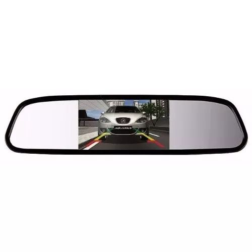 Espelho Retrovisor Interno Com Tela Monitor Lcd Tft - Barato - R$ 92,00