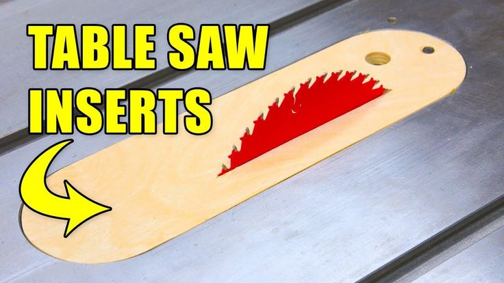 How to make table saw throat plates (Dado & Zero Clearance Inserts) #woodworking #diy