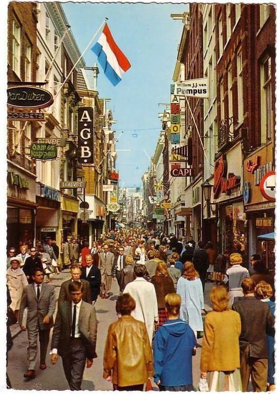 Amsterdam Kalverstraat, 1965.