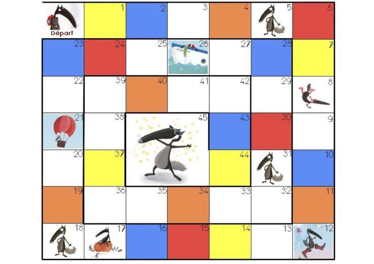 Voici deux jeux inspirés du «Loup qui voulait changer de couleur,» fait par Chloé qui m'a autorisée à les mettre sur le blog. Merci Chloé ;-) La planche du jeu de l&rs…
