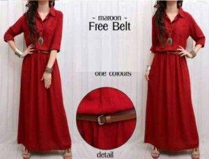 Baju muslim maxi dress bhn rayon S376