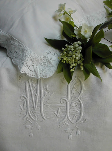 Absolutely Beautiful Monogrammed Linens