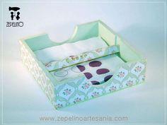 Zepelino Artesanía | Servilleteros | Cajas de madera, Decoupage