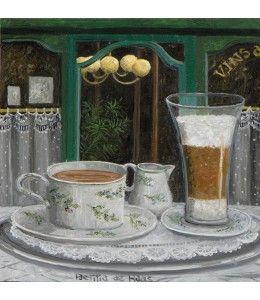 Café Latte. Verstuur dit werk van Laetitia de Haas als kaart.  www.kunstkaartjesturen.nl