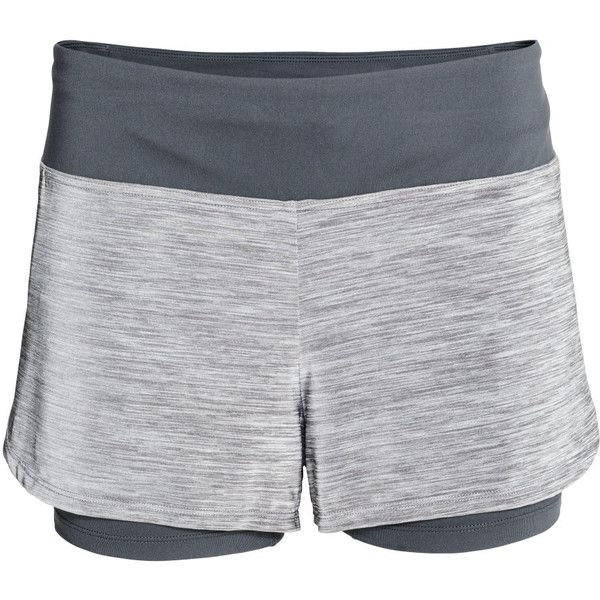 Løpeshorts 199,- ($25) ❤ liked on Polyvore featuring h&m