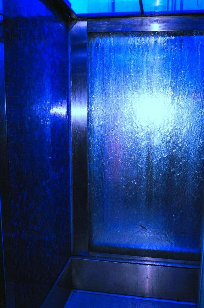 Tips for Creating Indoor Fountains and Waterfalls:Indoor Fountains and Waterfalls, Blue Lighting