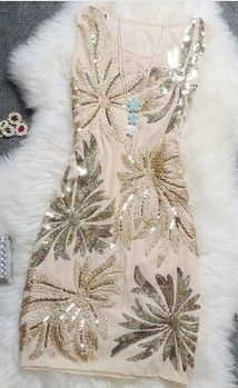Sequin Beads Short Formal Dress