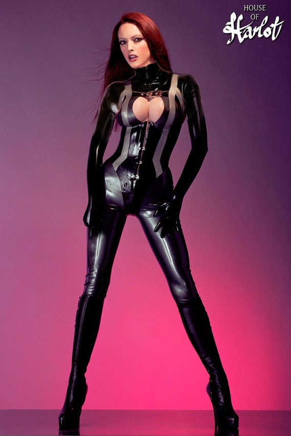 Tanya Two Piece Latex Rubber Corseted Catsuit от