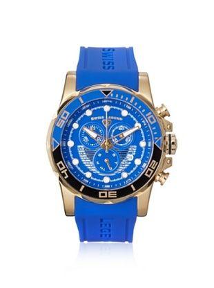 77% OFF Swiss Legend Men's 21368-YG-03 Avalanche Blue Silicone Watch