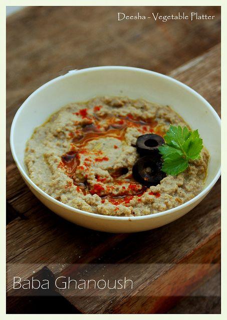 Baba Ghanoush (roasted eggplant dip) | {Chalo India} | Pinterest