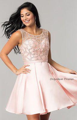9cfffd964 Vestidos de Grado Cortos - Orquideas Dresses Vestidos Especiales ...