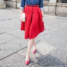 Новый Faldas 2015 летний стиль винтаж юбка высокой талией рабочая одежда миди юбки женская мода американский одежды юп роковой Saias(China (Mainland))