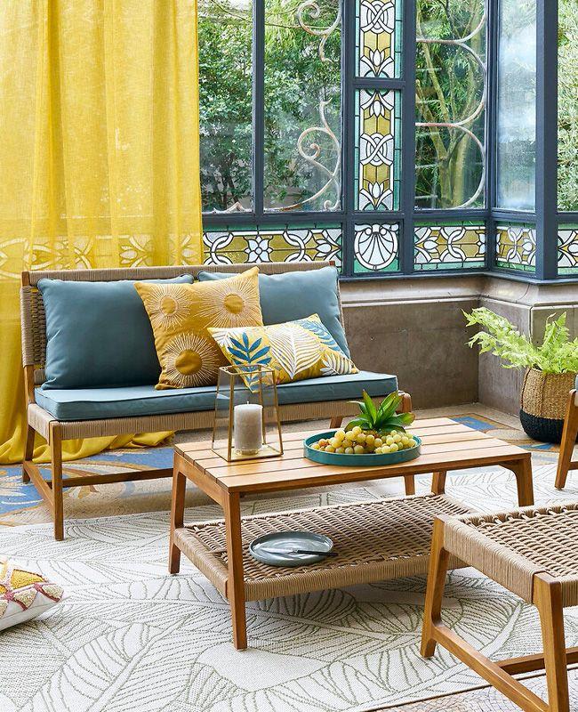 3 Ambiances Tendances Pour La Terrasse Avec La Redoute Shake My Blog En 2020 Decoration Maison Tapis A Motifs Mobilier De Salon