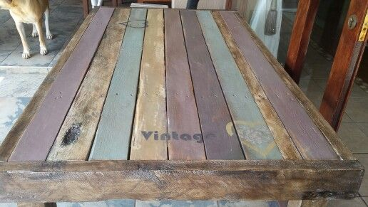 Pallet diningroom table 2