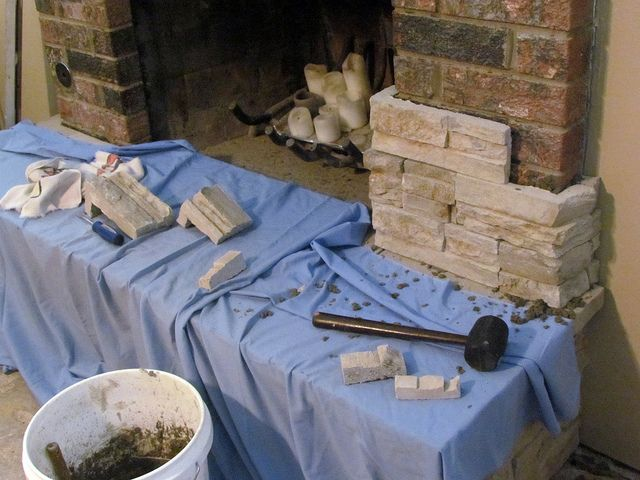 Making a Great Room- Resurfacing the Fireplace