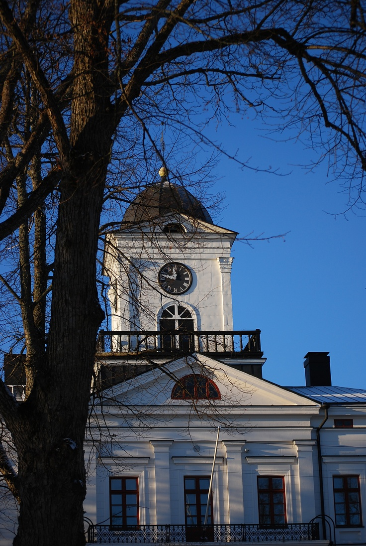 Town Hall in Kristiinankaupunki, a smalltown on the western coast of Finland.