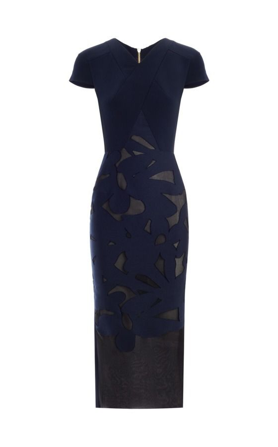Resort 2016 - The Gibson dress in navy organza by Roland Mouret #rolandmouret https://www.rolandmouret.com/product/resort2016/GIBSON-DRESS/NAVY