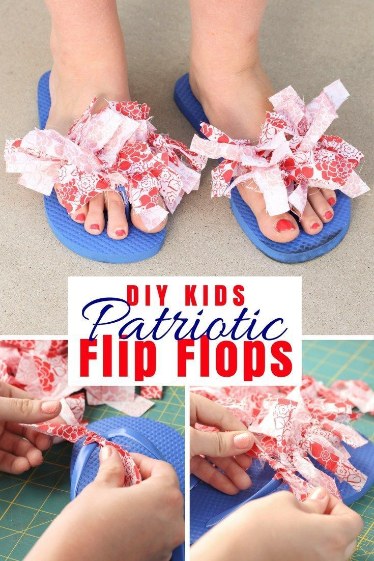 Spruce up any old pair of plain flip flops to look bright and summer-y! This project costs less than $4 to make and look…