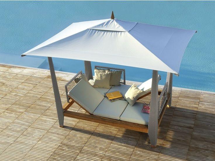 Letto da giardino matrimoniale reclinabile a baldacchino  Les jardins  home diy ideas ...