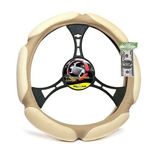 Introducing Big Ant Car Steering Wheel Cover Beige Air Mesh and Foam Padded Universal 15 inch With FREE Air Freshener. Get Your Car Parts Here and follow us for more updates!