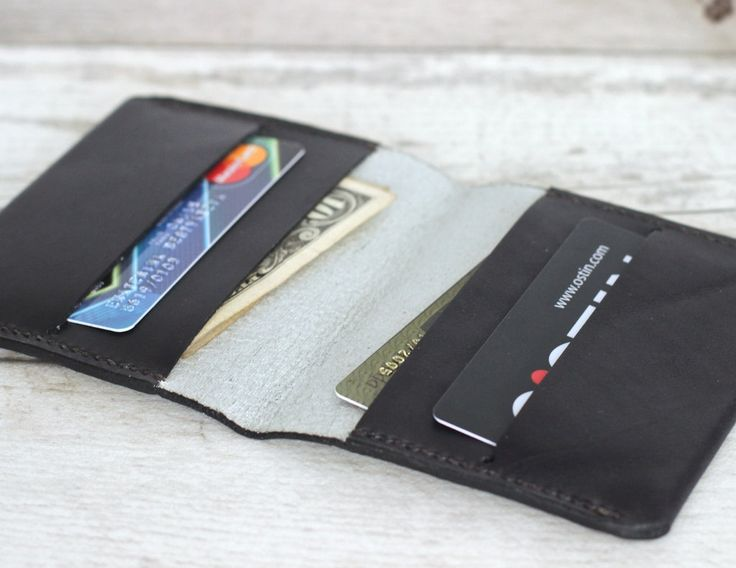 Card holder wallet leather small cardholder credit leather card holder travel wallet simple card wallet leather business holder - Free gift by KodamaLife on Etsy