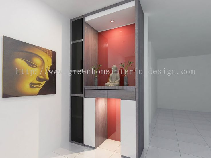 Johor Bahru (JB) Altar Cabinet Design From Green Home Interior Design