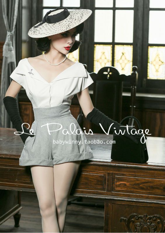 Aliexpress.com : Buy Le Palais Vintage limited edition of 50's elegant classic wearing a variety of law all match white shirt/ button from Reliable vintage shirts cheap suppliers on Mr. and miss