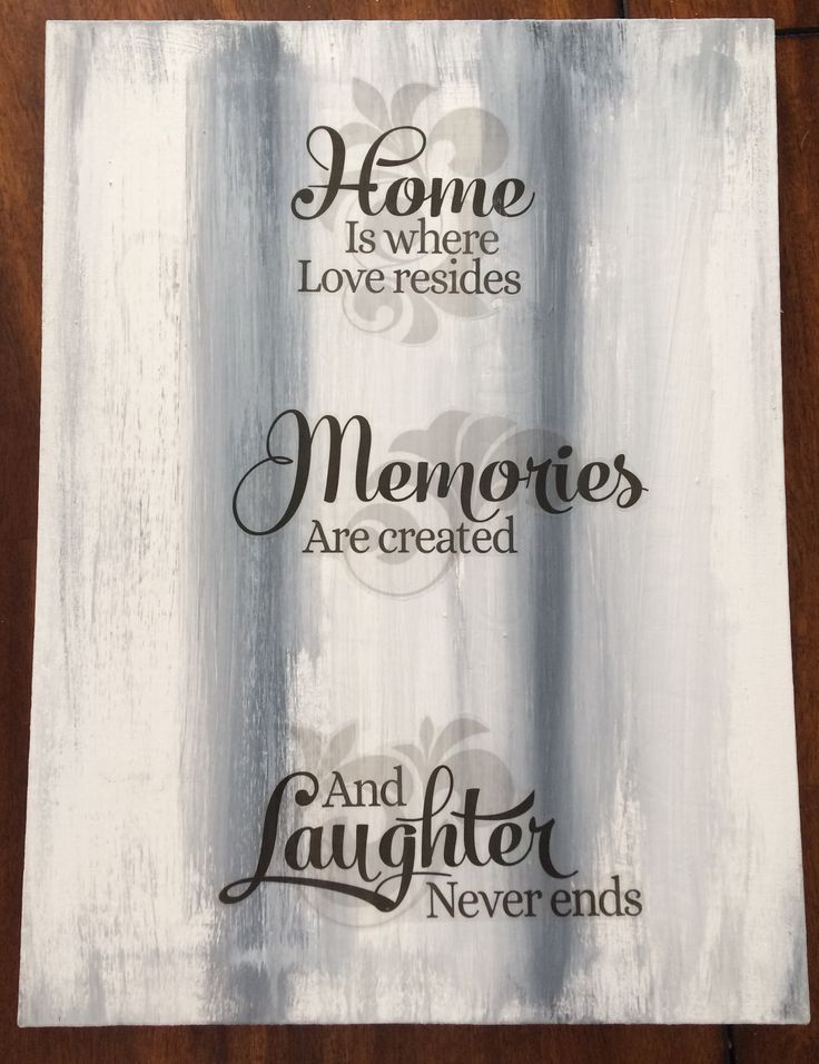 Acrylic on canvas, Quotes about Family