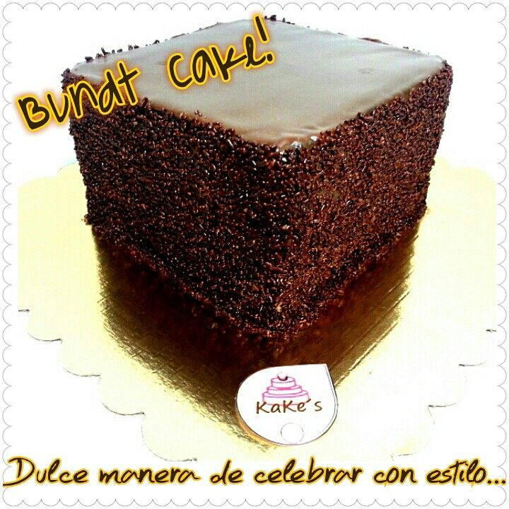 Bundt cake/pasión por el chocolate/chocolate intenso