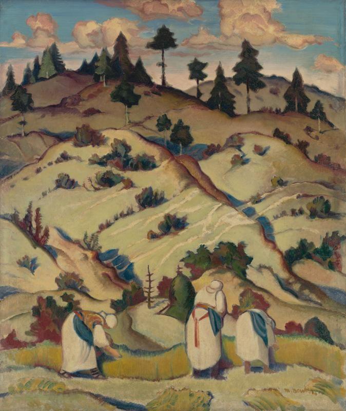 Martin Benka - Trhačky ľanu, 1925