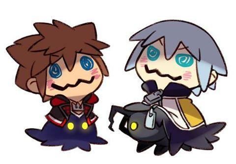Sora and Riku Mimikyu