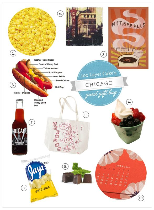 Ideas for a Chicago guest tote, courtesy of 100layercake.com  100lc_DIY_Chicago-favor1.jpg (587×800)