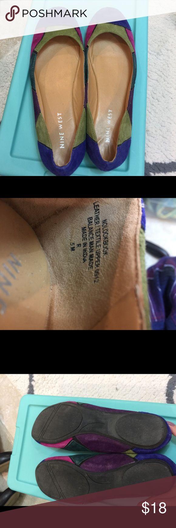NINE WEST LADY WOMEN'S BALLET FLAT Multi Colors NINE WEST LADY BELAZO WOMEN'S BALLET FLAT Multi Colors SHOES SIZE 5 US Nine West Shoes Flats & Loafers