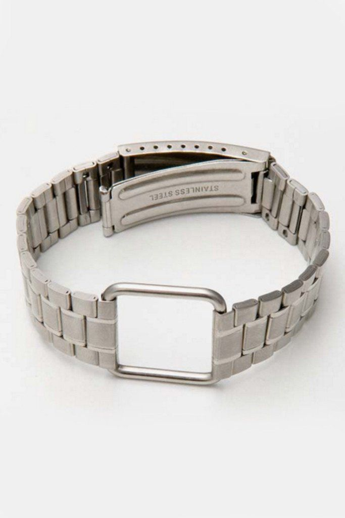 Silver Steel Uhrenarmband Bracelet