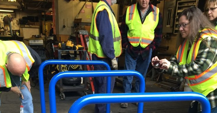 To foil thieves, the city is deploying heavy-duty racks with steel cables hidden inside them.