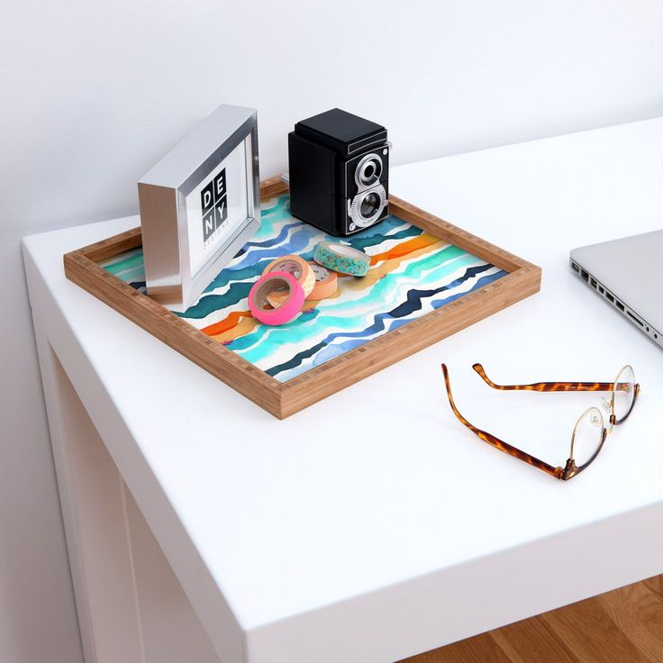 CayenaBlanca Beach Waves Square Tray | DENY Designs Home Accessories