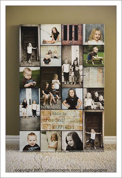 photo collage on canvas by amyscrap