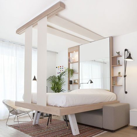Retractable Bed Designs - The 'BedUp' Pulls Up to the Ceiling, as Opposed to Folding into a Wall (GALLERY)