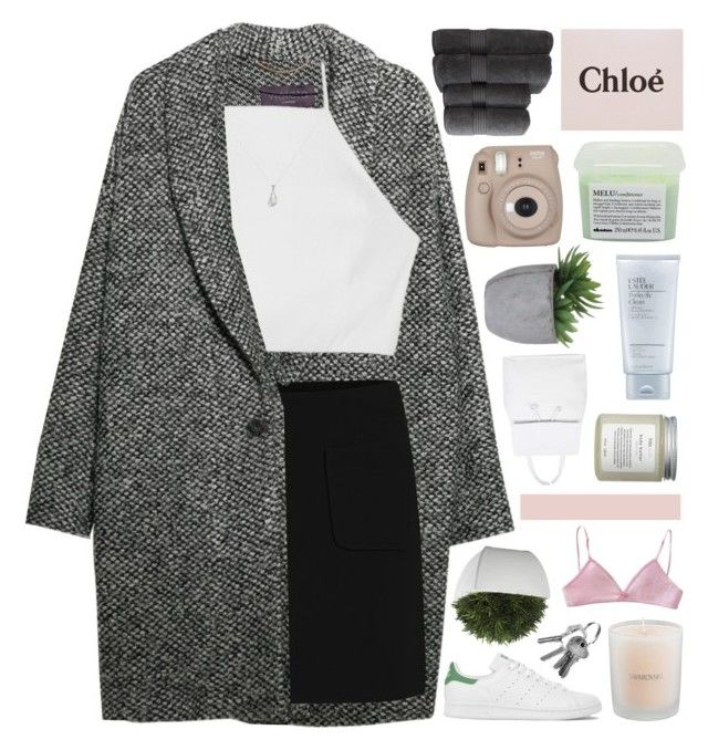"""""""Hacked by @samiikins"""" by end-of-the-day ❤ liked on Polyvore featuring Violeta by Mango, rag & bone, adidas, Swarovski, Crate and Barrel, Christy, Davines, Lux-Art Silks, Estée Lauder and Topshop"""