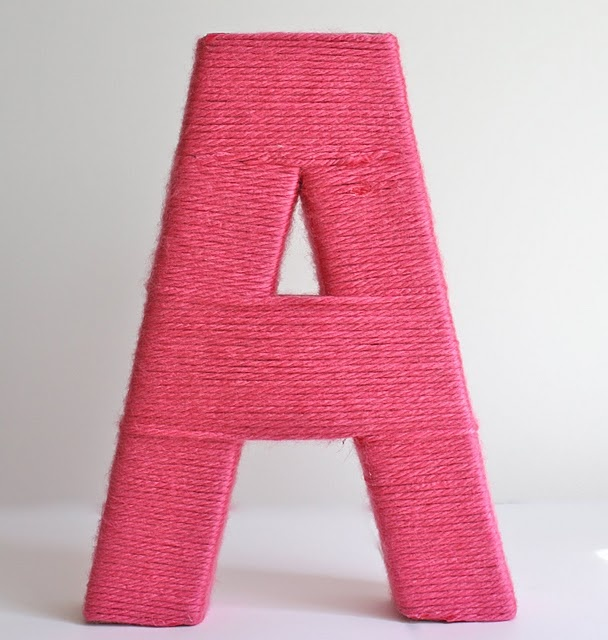Easy to follow tutorial for yarn wrapped letters