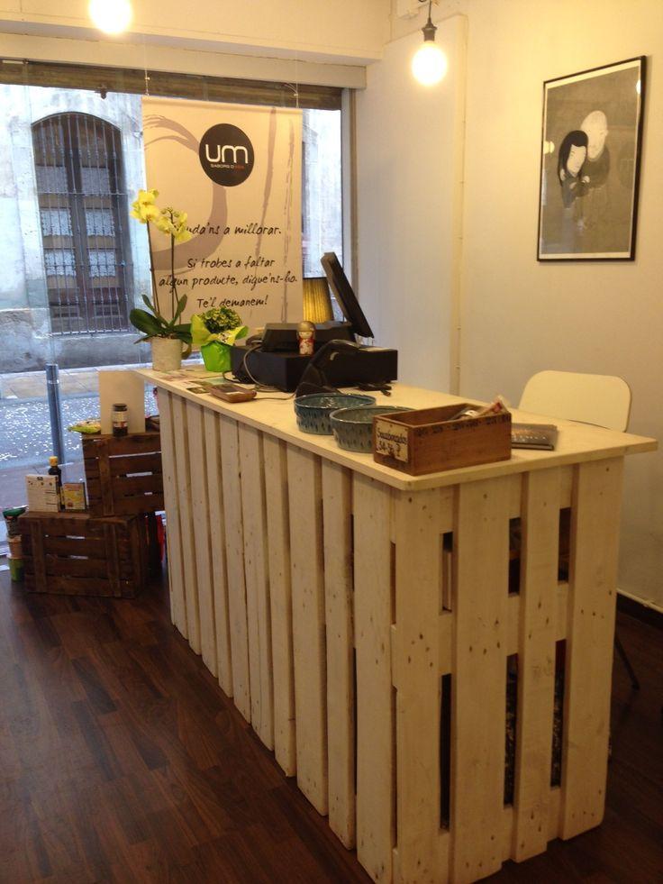 17 mejores ideas sobre mostrador de madera en pinterest for Bar rustico de madera