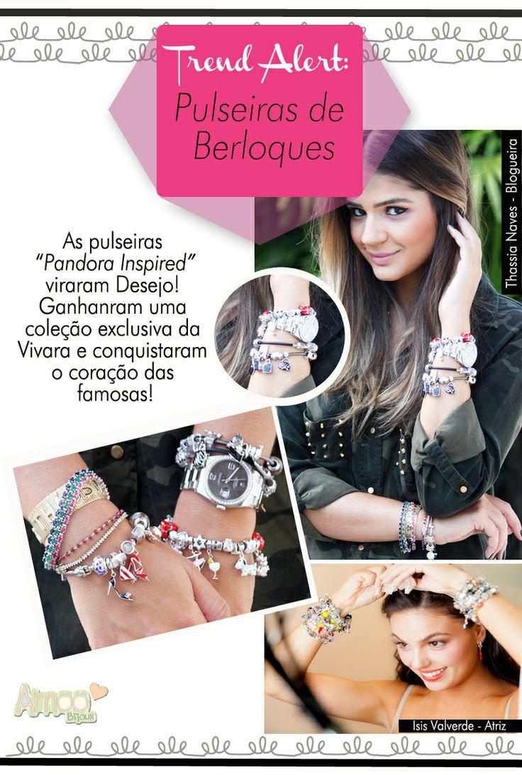 Você é adepta das pulseiras de berloque? A gente te conta tudo lá no blog: http://www.amoobijoux.com.br/blog/
