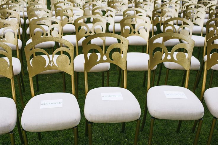 Gold chairs.