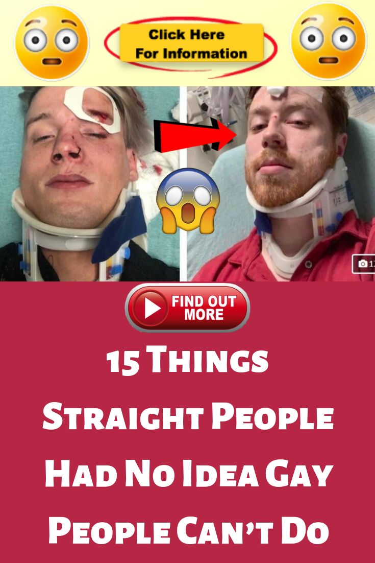 15 Things Straight People Had No Idea Gay People Can't Do
