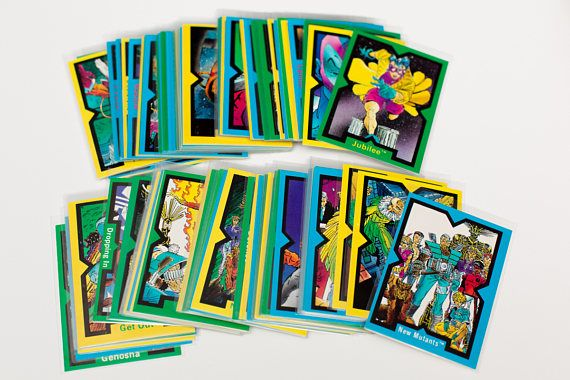 1991 Marvel X-Men Rob Liefeld Art Trading Cards, Complete 90-Card Set, Vintage 90s, X-Force New Mutants, Comic Images, Illustrated